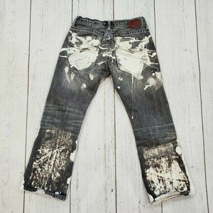 BKE Aiden Custom Destroyed Bleached 29S Jeans